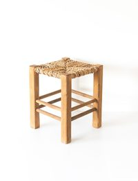 Handcrafted Square Chair - Halva