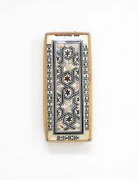 صندوق دومينوز خشبي - بني