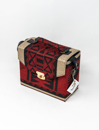Bedouin Box Bag in Red and Tan