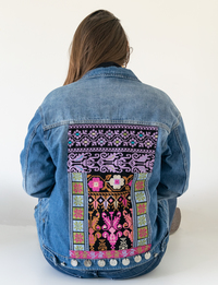 Blue Denim Jacket with Full Embroidery