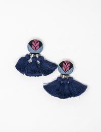 Tassel Earrings - Blue