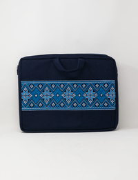 Embroidered Laptop Case (Blue)