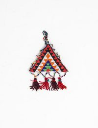 Hand-Beaded Triangle Ornament (One Color)