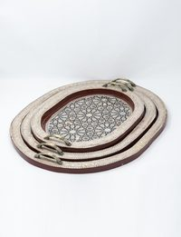 Set of Oval Serving Trays