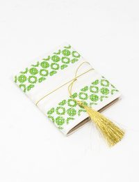 Notebook: Green Fabric Cover
