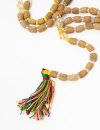 Olive Seeds Rosary (99): Multicoloured Tassel