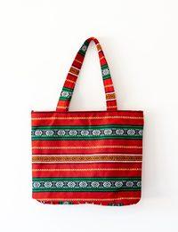 Shoulder Bag: Red Bedouin Patterns