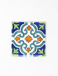 Decorative Ceramic Tile - Powder Blue Flower