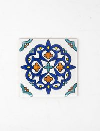 Decorative Ceramic Tile - Navy Blue Mosaic