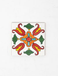 Ceramic Decorative Wall Tile - Lilly Pattern