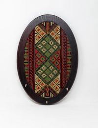 Embroidered Oval Key Hanger - Large