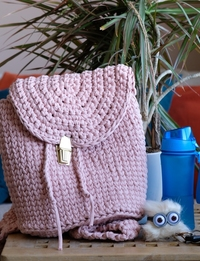 Small Knitted Pink Bag