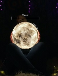 Full Moon side lamp - Medium (White)