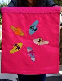 Organza and silk shoe organizer - Pink
