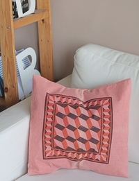 Hand-dyed Pillow in Pink