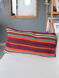 Striped Cushion Cover: Blue Tones