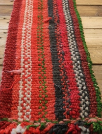 Striped Table Runner: Red Tones