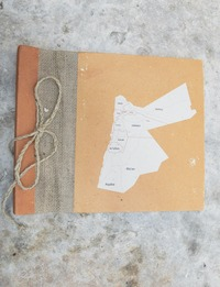 Notebook with Map of Jordan Cover