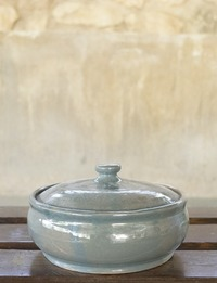 Ceramic Container with Lid (Light Green)