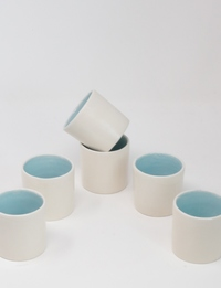 Blue + White Porcelain Cup Set