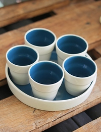 Blue + White Serving Set
