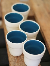 Blue + White Cup Set