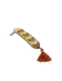 Hand-embroidered Keychain (Orange)
