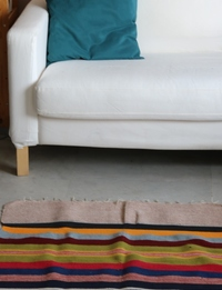 Medium Horizontal-Striped Carpet: Multicolor