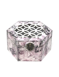 Lattice-work Jewlery Box with Floral Patterns