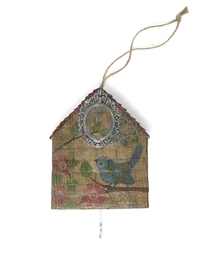 Decoupage &Birdhouse& Wall Hook