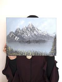 لوحة زيتية للجبل (متعدد الألوان)