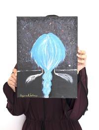 لوحة زيتية للضفائر الزرقاء (متعدد الألوان)