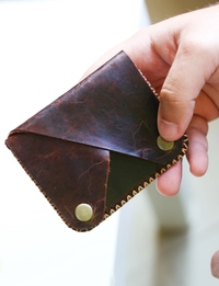 Men's Triangle Wallet: Brown