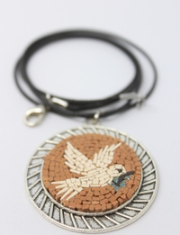 Handmade Mosaic Necklace in The Peace Dove