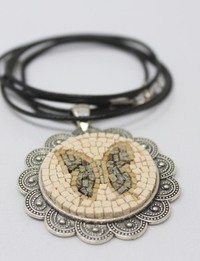 Handmade Mosaic Necklace in Butterfly