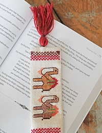 Embroidered bookmark