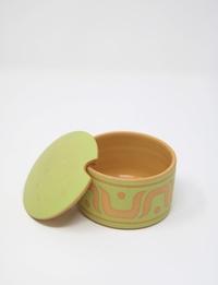 Sugar Bowl: Beige and Green
