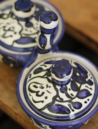 """Ceramic """"Zait w Zaatar"""" Container"""