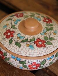 Large Floral Ceramic Container