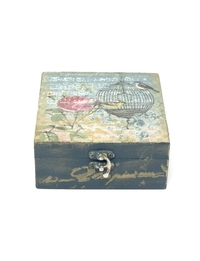 Decoupage &Birds and Birdcage& Jewlery Box