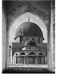 Dome of Rock and Dome the the Chain, Jerusalem, c1930.
