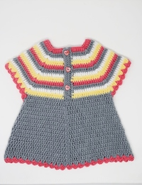 Crochet Baby Dress: Multicolor (Size 6-9 Months)
