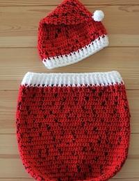 طقم كريسماس أحمر اللون (0 - 3 أشهر)