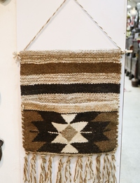 Bedouin-Inspired Wall Hanging: Beige and Black
