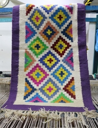 Madaba-Inspired Rug: Purple
