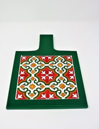 Green Serving Trivet: Christmas