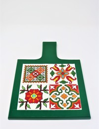 Green Serving Trivet: Floral