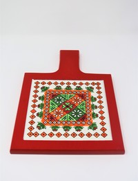 Red Serving Trivet: Christmas