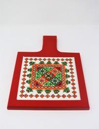 Red Serving Trivet: Christmas