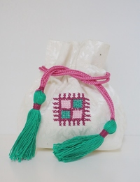Green Embroidered Coin Purse (Small)